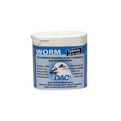 Dac Worm Tabs 50 tablets For Racing Pigeon & Poultry - The Poultry coop