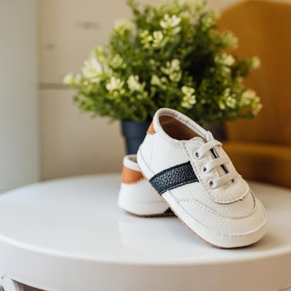 Little Love Bug Co. White and Black Sneaker