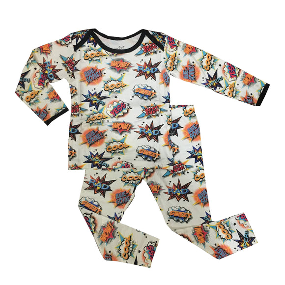 Comic 2-Piece Bamboo Pajama Set