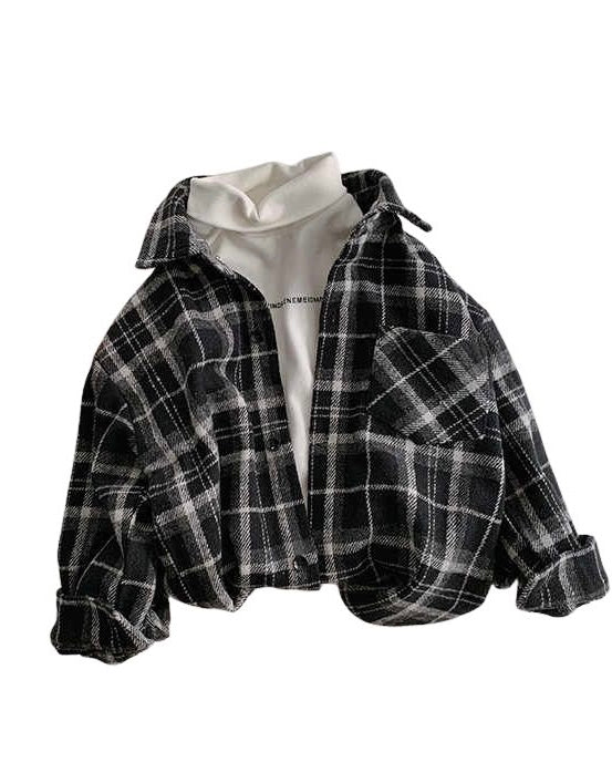 Charcoal Pane Flannel