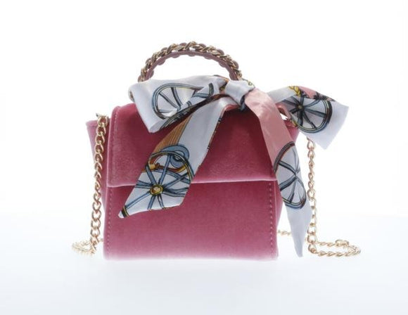 Top Handle Pink Velvet Purse *Preorder