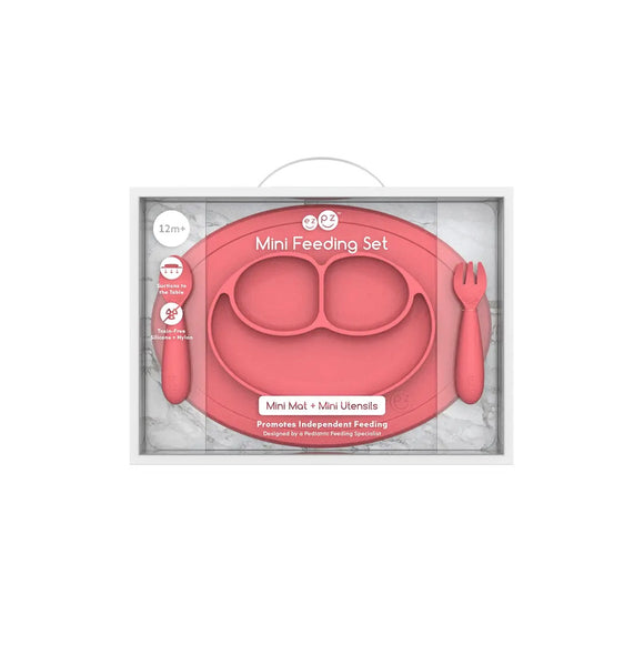 ezpz Coral Mini Feeding Set