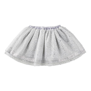 Silver Tulle Tutu 6-18 Months