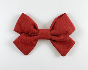 Madi Scot Hand Tied Hair Hair Bow - Red