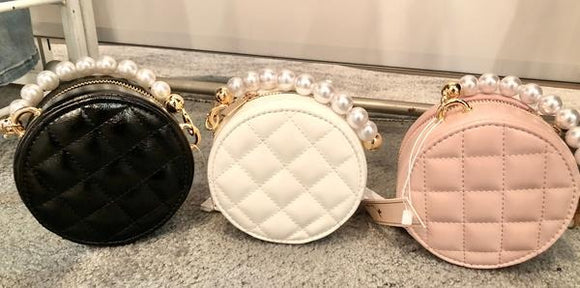 Mini Pearl Round Purse