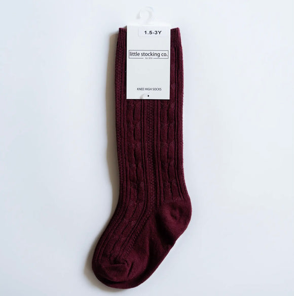 Socks - Wine Knee High