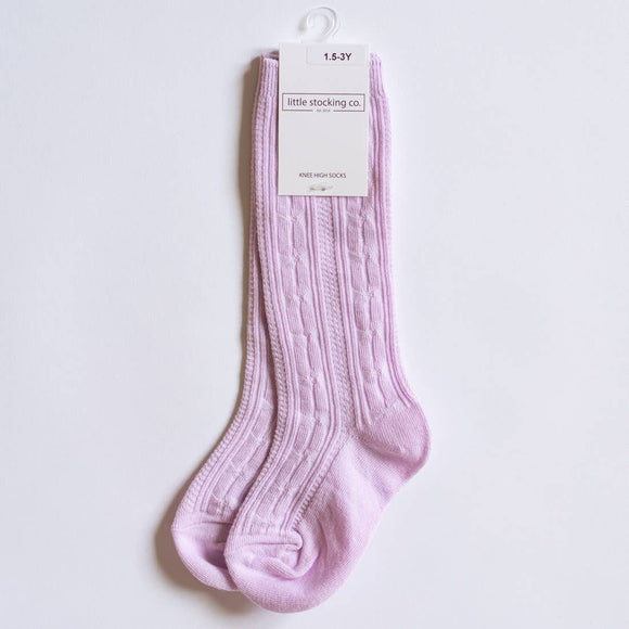 Socks - Lavender Knee High