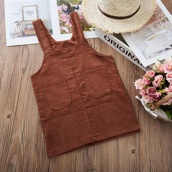 Corduroy dress - Rust