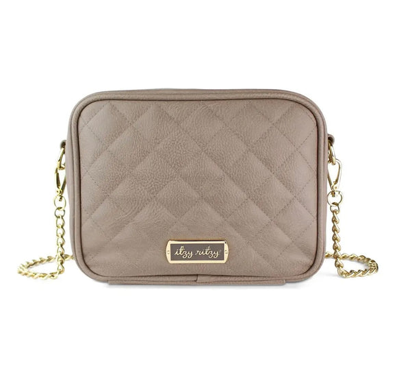Taupe Double Take™ Crossbody Diaper Bag