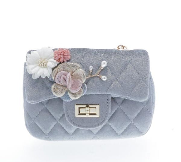 Grey Quilted Purse