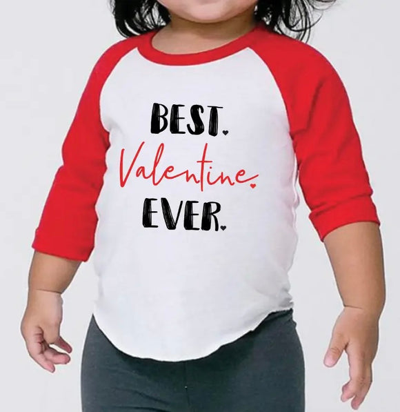 Valentines Toddler Baseball Tee