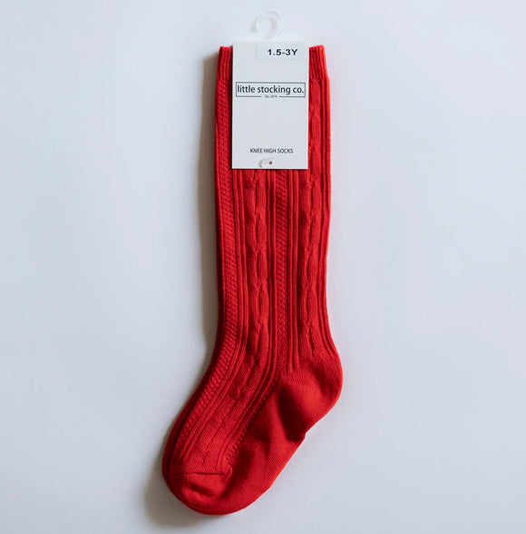 Socks - Red Knee High