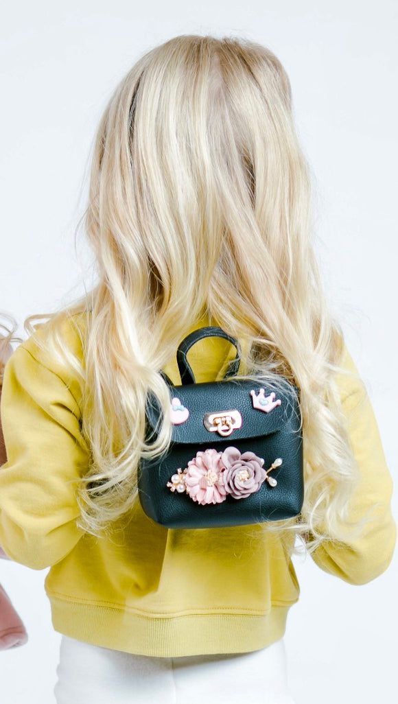 Flowers & Pearls Mini Backpack