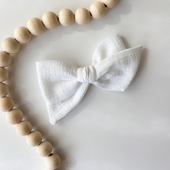 Preorder** White Gauze Bow by MadiScot Designs