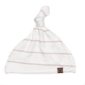 Papillon Bebe Knotted Hat - Fawn Stripe