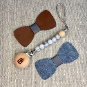 Grey Marble Rohan Tag-a-long Pacifier Clip