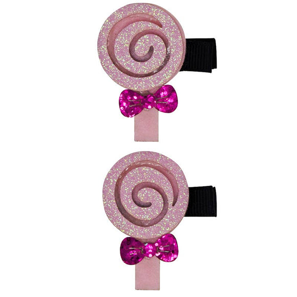 Pink Lollipops - Hair Clips
