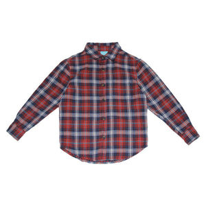Red Flannel Woven Buttondown