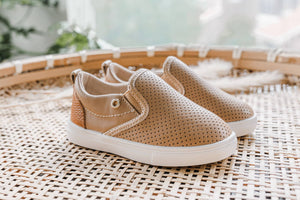 Tan Slip On Shoes