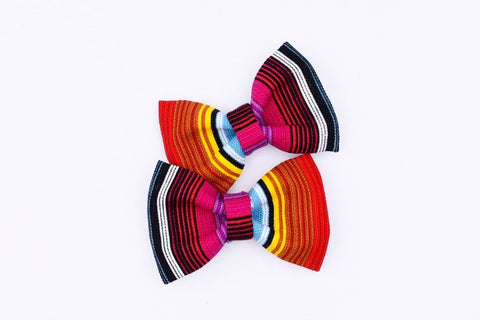 Serape Hair Bow Pigtails