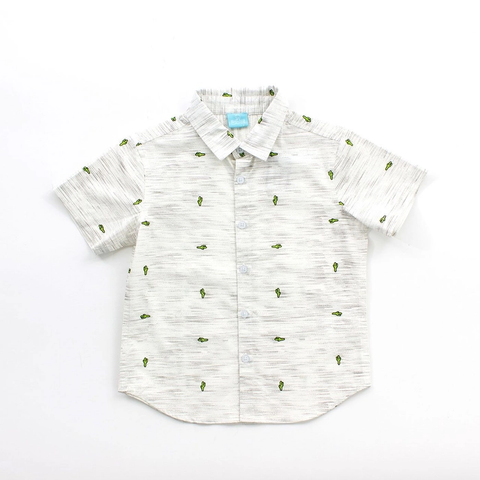 Oatmeal Gael Baby Button Down