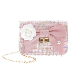 Blush Tweed Purse