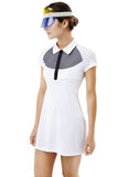 RAGLAN SLEEVE POLO DRESS