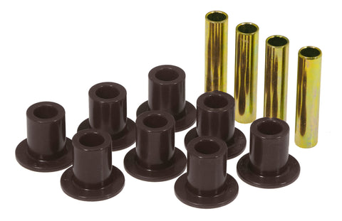 Prothane 87-96 Jeep Front Spring & Shackle Bushings - Black