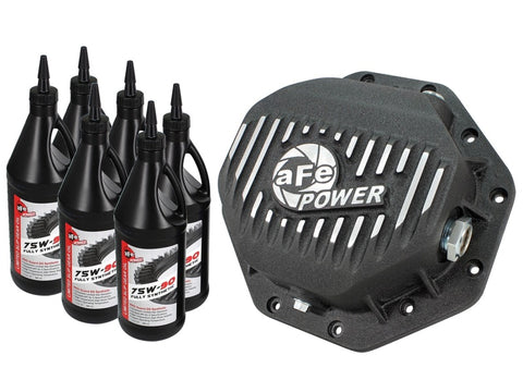 AFE Rear Differential Cover Black Machined Pro Dodge/RAM 94-15 Corporate 9.25 (12-Bolt) w/ Gear Oil