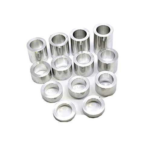 "Wheel Axle Spacer Kit I.D. 1"" (1.00) - O.D. 1-1/2"" (1.50) - 13 Spacers Machined Finish"