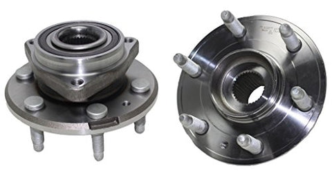 Detroit Axle (2) Front Left and Right Side Wheel Hub & Bearing Assembly for 2007 2008 2009 2010 2011 2012 2013 2014 2015 2016 Buick Enclave Chevrolet Traverse GMC Acadia Saturn Outlook