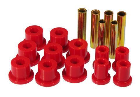 Prothane 67-70 GM 4wd Front Spring & Shackle Bushings - Red