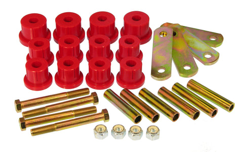 Prothane 62-67 Chevy Nova HD Spring & Shackles Bushings - Red
