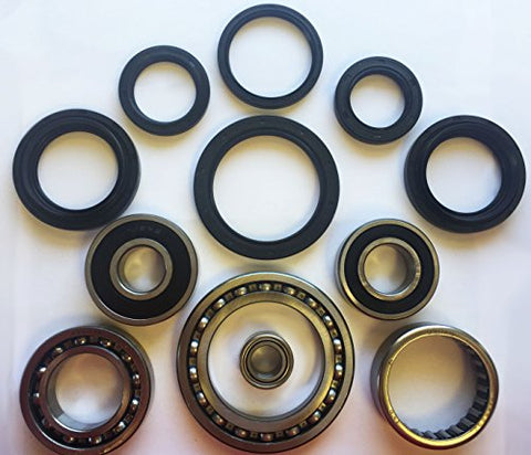 COMPLETE Rear Differential & Axle Tube Bearing Seal Kit for 2004-2006 Yamaha YFM 350 Bruin 2x4 4x4 ATV