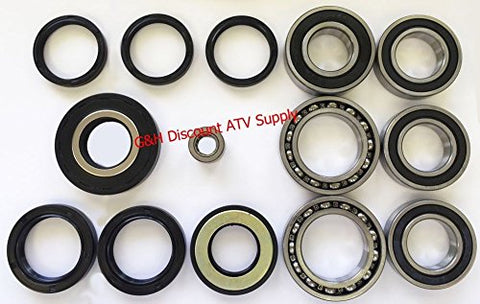 COMPLETE Rear Differential & Axle Bearing Seal Kit for 1997-2014 Honda TRX 250 Recon