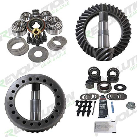 Revolution Gear & Axle - Jeep YJ/XJ 87-96 (D44/D30 reverse) 5.13 gear package front & rear with master overhaul kits (Does not include carrier cases)