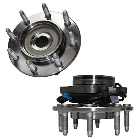 Detroit Axle 515058 Front Wheel Bearing Hub Assembly for Chevy Silverado Avalanche Suburban GMC Sierra Yukon 1500HD 2500 2500HD 1999-2007 Hummer H2 4x4 2003-2007 8 Lug 2pc Set