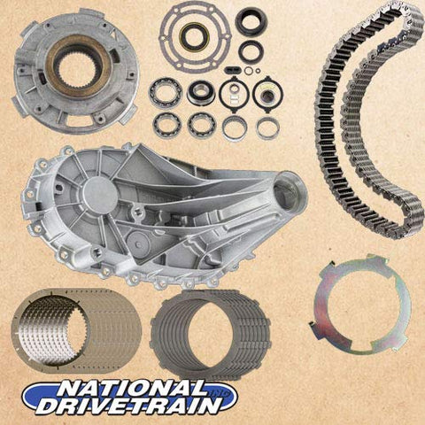 TRANSFER CASE REAR HALF CHAIN BEARING PUMP & CLUTCH REBUILD KIT - NP246 NV246