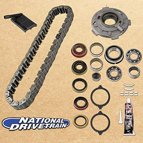 TRANSFER CASE CHAIN, PUMP, FILTER & BEARING REBUILD KIT - 87-93 JEEP NP231J