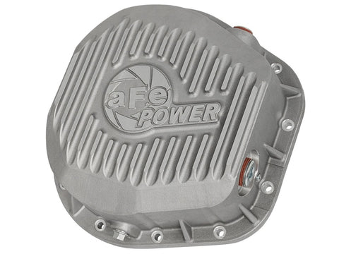 afe Rear Differential Cover (Raw; Street Series); Ford Diesel Trucks 86-13 V8 (td)
