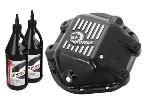 aFe Power Differential Cover Machined Pro Series 97-15 Jeep Dana 44 w/ 75W-90 Gear Oil 2 QT