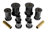 Prothane 74-91 Jeep Cherokee Front Spring & Shackle Bushings (w/ 2in OD Main Eye) - Black