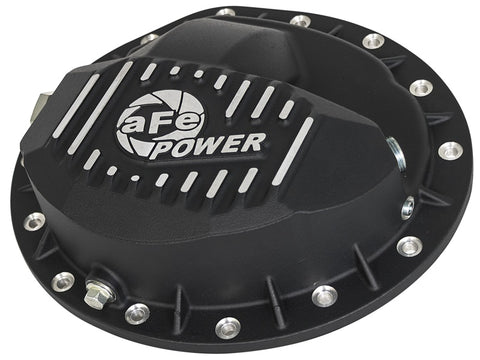 aFe Power Pro Series Rear Differential Cover Black w/ Machined Fins 99-13 GM Trucks (GM 9.5-14)