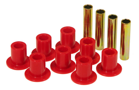 Prothane 87-96 Jeep Front Spring & Shackle Bushings - Red