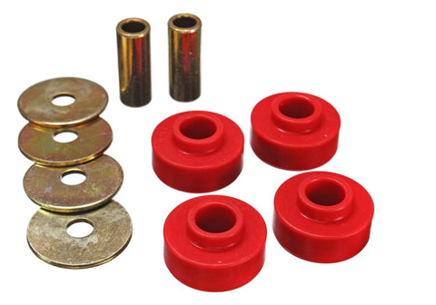Energy Suspension 89-97 Ford Thunderbird / 99-04 Mustang Cobra Red Differential Carrier Bushings
