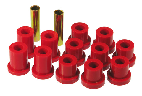 Prothane 56-57 Chevy Full Rear Spring Bushings - Red