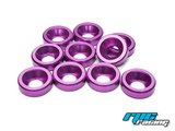 RPC Racing M3 Aluminium Countersunk Washers (10) - Purple
