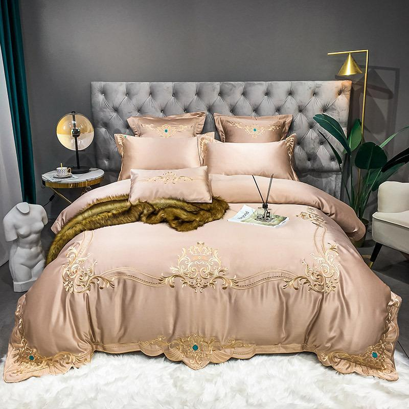 Royal Embroidery Silk Bedding Set
