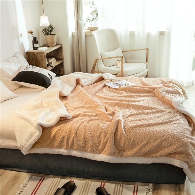 Double Layer Thickened Cashmere Blanket