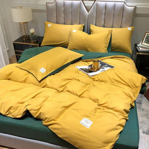 Candy Color Cotton Bedding Set